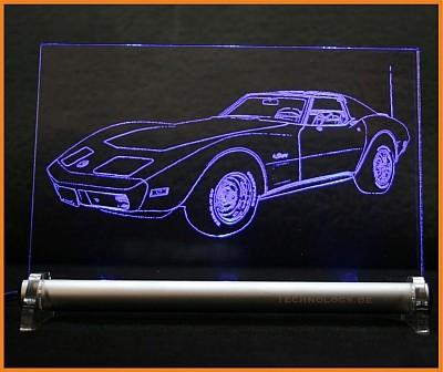 Corvette C3 LED Leuchtschild