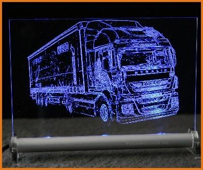 Iveco Stralis Sattelzug LED Leuchtschild