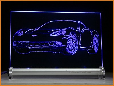 Corvette C6 LED Leuchtschild