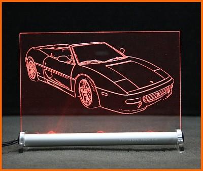 Ferrari F355 Spider LED Leuchtschild