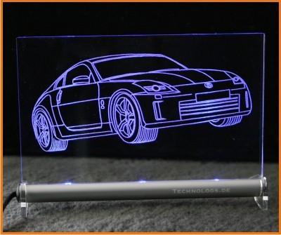 Nissan 350Z LED Leuchtschild