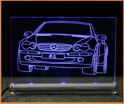 Mercedes Benz SL LED Leuchtschild