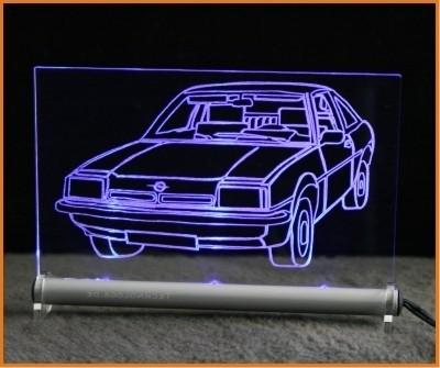 Opel Manta LED Leuchtschild