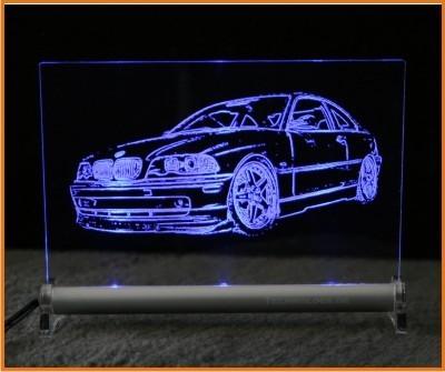 BMW 3 e46 coupe LED Leuchtschild