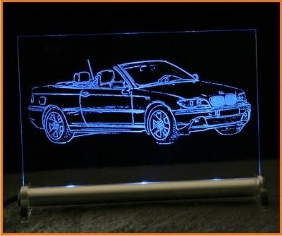 BMW 3 e46 Cabrio LED Leuchtschild