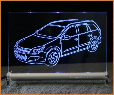 Opel Astra H Caravan LED Leuchtschild