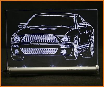 Ford Mustang V LED Leuchtschild