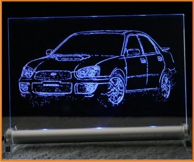 Subaru Impreza LED Leuchtschild