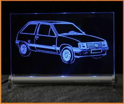 Opel Corsa A LED Leuchtschild