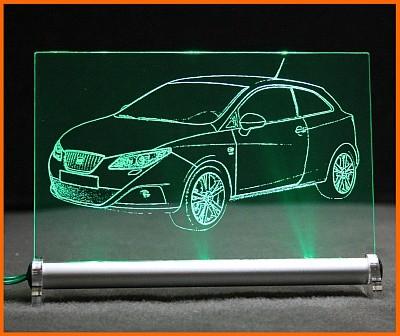 Seat Ibiza SC 6J Sport Coupe LED Leuchtschild