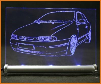 Fiat Bravo LED Leuchtschild