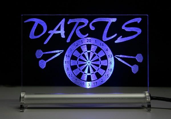 Darts Dartsport DART LED Leuchtschild