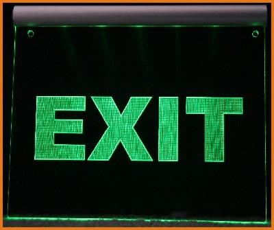 Exit / Ausgang LED Leuchtschild