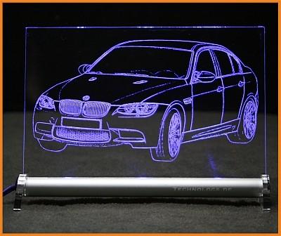 BMW 3 M3 E90 LED Leuchtschild