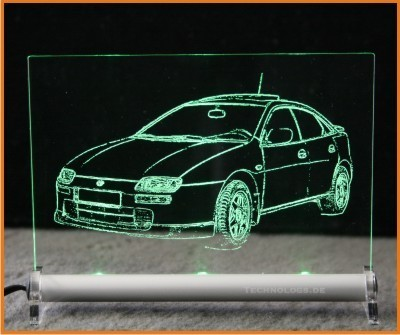 Mazda 323 LED Leuchtschild
