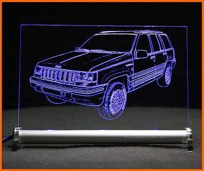 Jeep Grand Cherokee ZJ ZG LED Leuchtschild