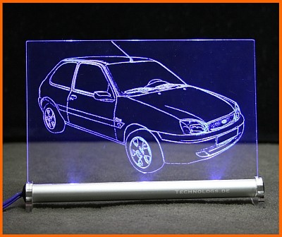 Ford Fiesta MK5 LED Leuchtschild