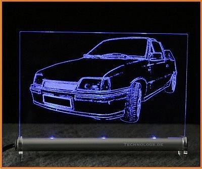 Opel Kadett E Cabrio LED Leuchtschild