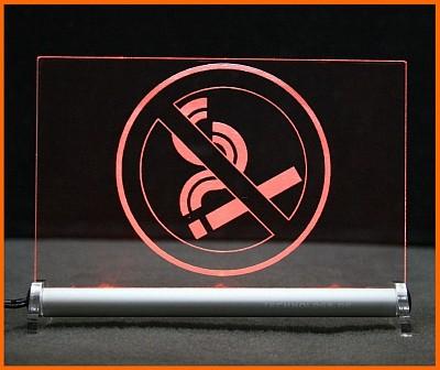 Rauchverbot v2 LED Leuchtschild
