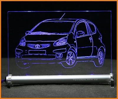 Toyota Aygo LED Leuchtschild