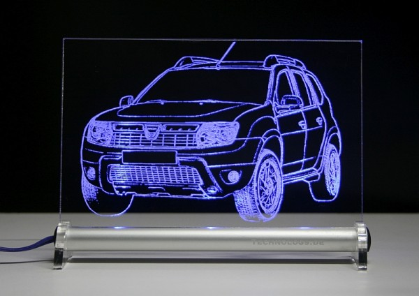 Dacia Duster LED Leuchtschild