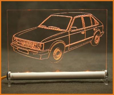 Opel Kadett D LED Leuchtschild