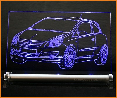 Opel Corsa D GSI LED Leuchtschild