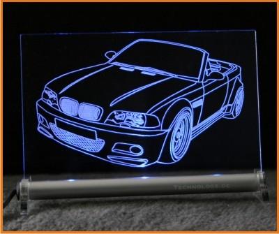 BMW 3 e46 Cabrio tuning LED Leuchtschild