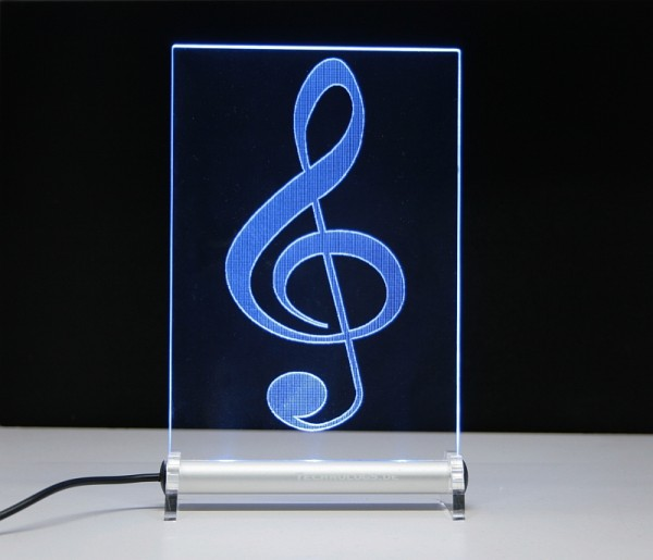 Violinschlüssel Notenschlüssel LED Leuchtschild
