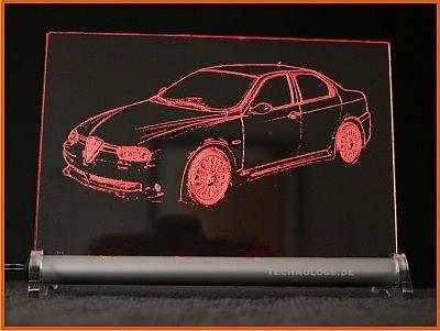 Alfa 156 GTA LED Leuchtschild