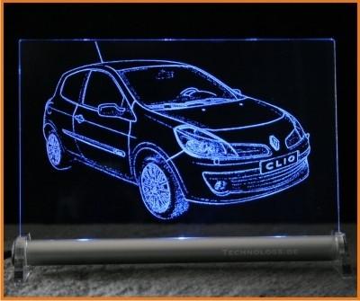 Renault Clio LED Leuchtschild