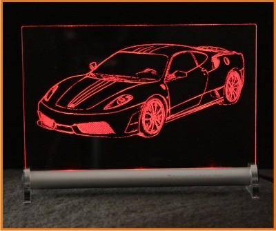 Ferrari 430 Scuderia LED Leuchtschild