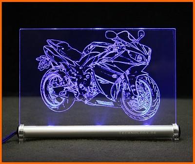 Yamaha R1 LED Leuchtschild