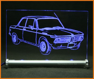 led leuchtschild mit gravur bmw 1600 2 alpina. Black Bedroom Furniture Sets. Home Design Ideas