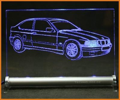 BMW 3er E36 Compact LED Leuchtschild