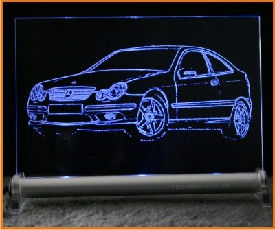 Mercedes C-Klasse Sportcoupe CL203 LED Leuchtschild