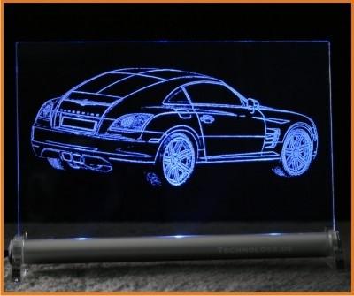 Chrysler Crossfire heck LED Leuchtschild