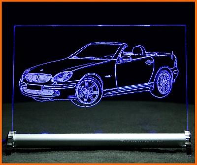 Mercedes SLK R170 LED Leuchtschild