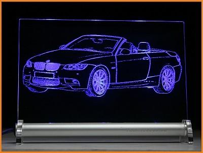 BMW 3 Cabrio E93 LED Leuchtschild