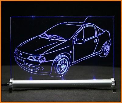 Opel Tigra LED Leuchtschild