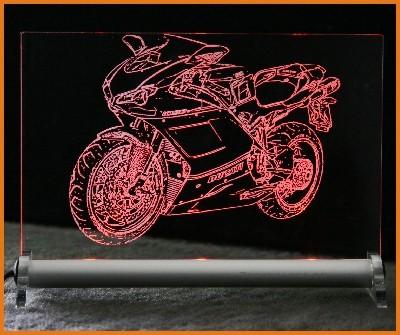 Ducati Tricolore Superbike 1098S LED Leuchtschild