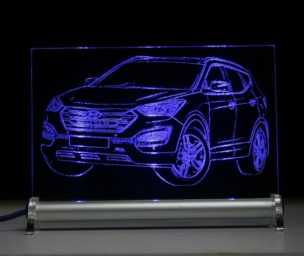 Hyundai Santa Fe DM LED Leuchtschild