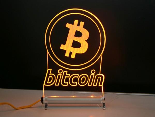 Bitcoin BTC LED Leuchtschild