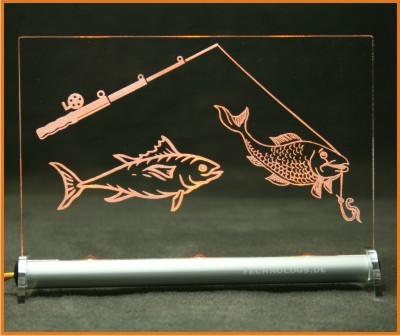Fischen - Angeln LED Leuchtschild