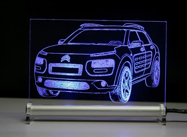 Citroën C4 Cactus LED Leuchtschild