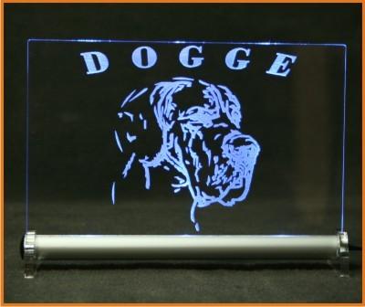 Deutsche Dogge LED Leuchtschild