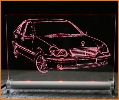 Mercedes Benz C-Klasse limousine LED Leuchtschild