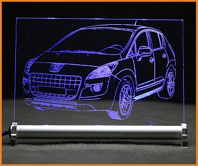 Peugeot 3008 LED Leuchtschild