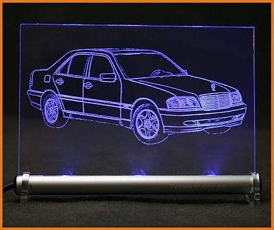 Mercedes C Klasse W202 LED Leuchtschild
