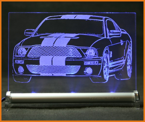 Ford Mustang GT 500 Shelby LED Leuchtschild